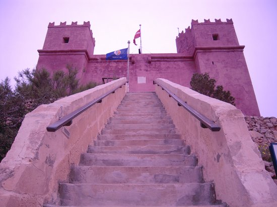 St Agatha's Tower : 階段を上がります。