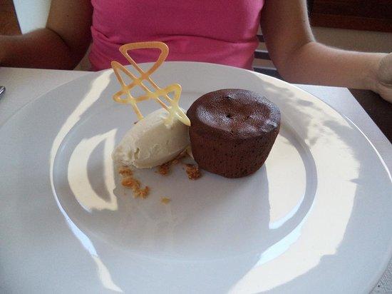 Restaurante Erroak: Coulant de chocolate