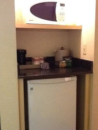 Ramada Plaza Anaheim: microwave & refrigerator in each room