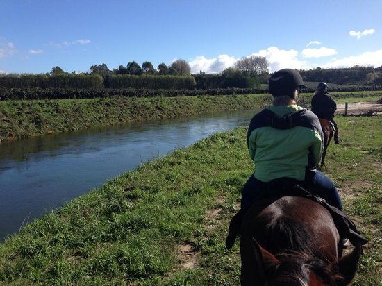 Briars Horse Trek: Riding by the river