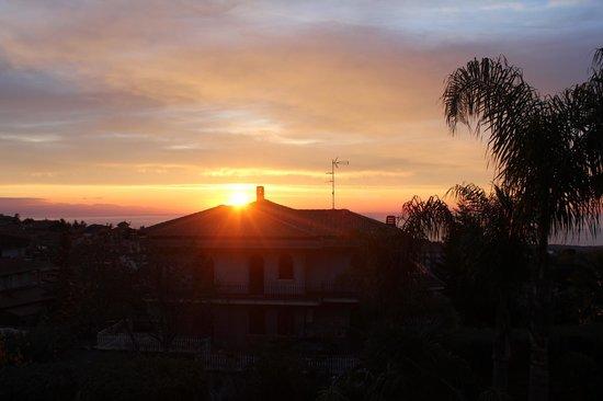 Villa Hirschen: Il panorama che vedevo tutte le mattine dal letto.