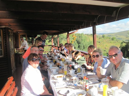 Waterval Boven, South Africa: The verandah where we ate