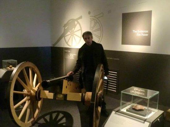 Culloden Battlefield: Cañones de la época.