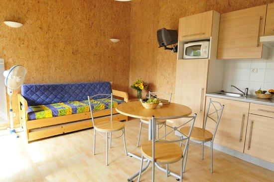 Le Domaine du Mas Blanc: Coin salon/cuisine - Gîte 4 personnes