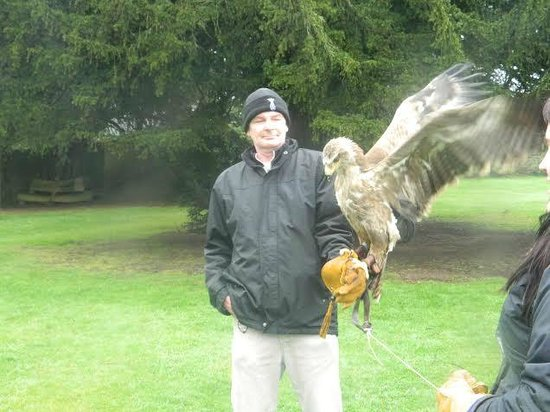 Swinton Park Country Club and Spa: Barry with eagle