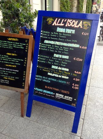 All  Isola: Sign outside