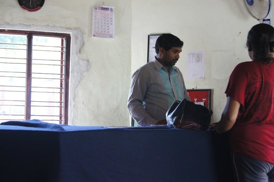 Veerabhoomi Tourist Village Kushalanagar: Reception Guy