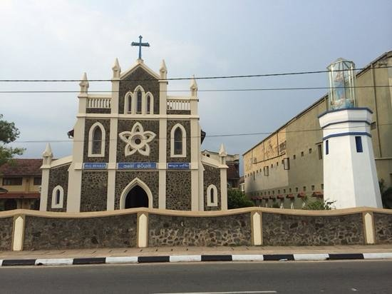 The Shrine of Our Lady of Matara: The Ave Maria Church Matara Front View