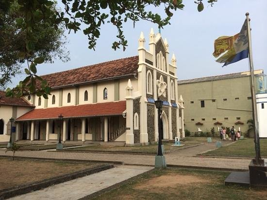 The Shrine of Our Lady of Matara: The Ave Maria Church Matara, Side View