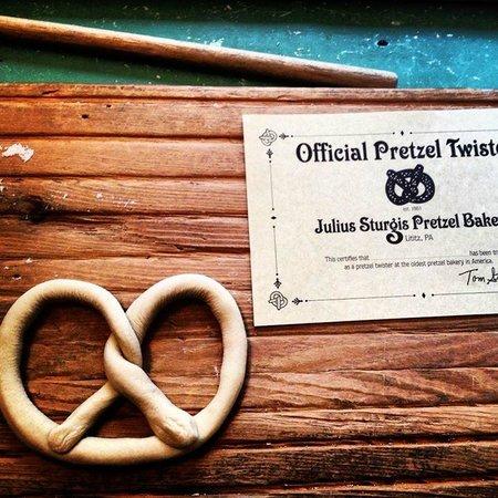 Julius Sturgis Pretzel Bakery: Il nostro diploma!!!!!!