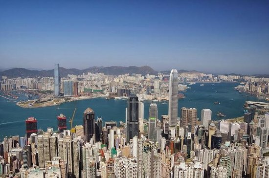J3 Private Tours Hong Kong: Hong Kong island from Jamie's lookout spot!