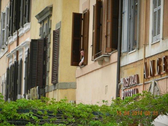 Hotel de Rome: Vårt fönster