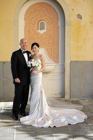 Our wedding in Cortona. Photoshoot in front of Villa Marsili