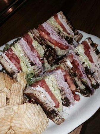 Christopher's Cafe: Club Sandwich on marble rye