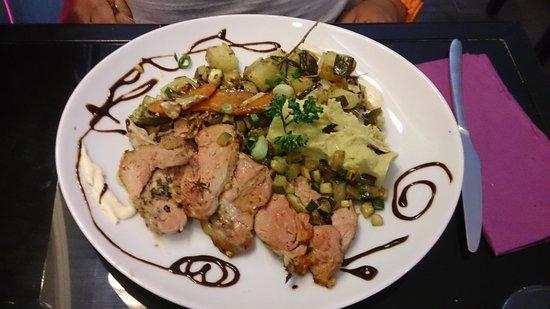 O Papilles - Le restaurant : l'agneau et ses petits légumes