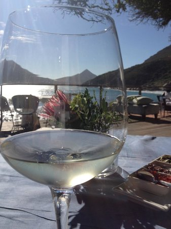 Tintswalo Atlantic: Lunch on the deck
