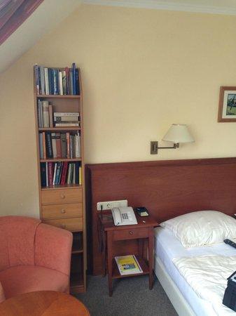 Hotel Schlossgarten: camera con libreria