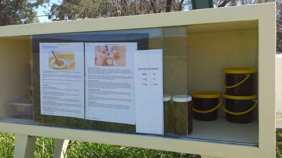 Mt Kaputar National Park : Mt Kaputar beekeeper, a tasty surprise and help yourself. About 25km from Narrabri