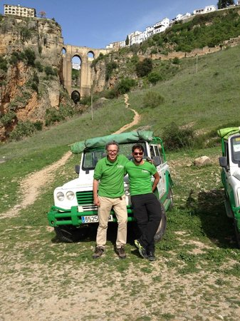 Monte Aventura, Andalucia Ecotours: Antonio and Hugo in Ronda gorge.