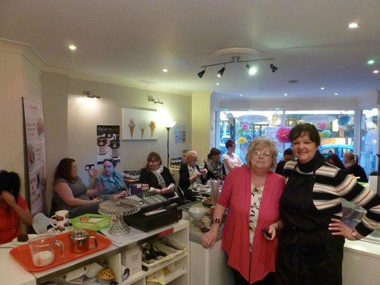 Sundae Best Ice Cream Parlour: The wonderful Vivienne and her staff