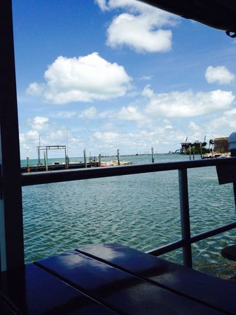 Keys Fisheries: The view when you're eating .. It's great!