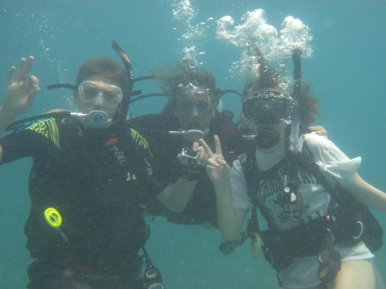 Scuba School And Family Dive Center: Me with my 16 and 13 year old kids