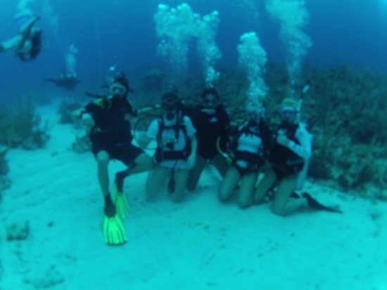 Scuba School And Family Dive Center: My kids, me and our 2 new certified divers on vacation with us