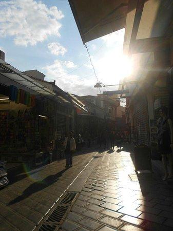 Monastiraki: Athens Flea Market, by the metro station
