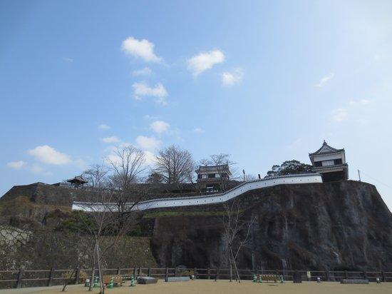 Usuki Castle Ruin: 遠景