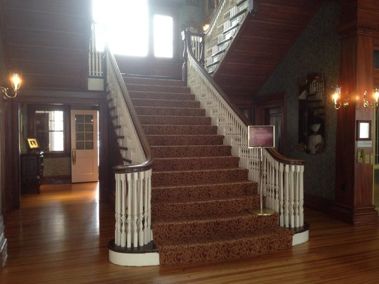Stanley Hotel: The staircase that I got pushed on :-)