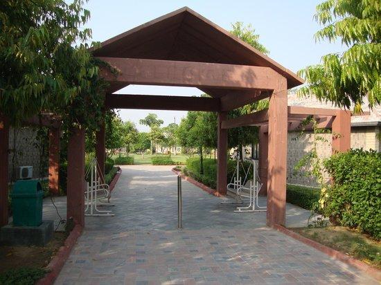 Shri Radha Brij Vasundhara - The Resort & Spa : Entrace to our block