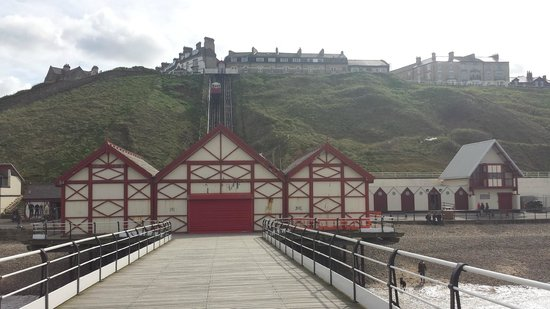Saltburn Cliff Tramway: the view from the pier