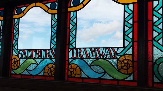 Saltburn Cliff Tramway: stained Glass windows