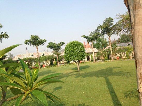 Shri Radha Brij Vasundhara - The Resort & Spa: Each room has access to a Gsrden at door step
