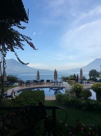 Hotel Atitlan: View across the lake
