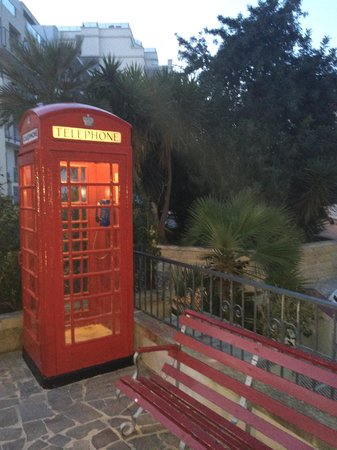 1 of the first phone boxes in st Julian's installed in the 1940's it's right in front of Assaggi