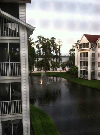 Diamond Resorts Grand Beach : View from Balcony to beach.  Nice evening!