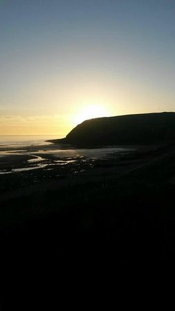 Seacote Caravan Park: Early evening view from the caravan
