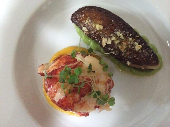 Assaggi : Lobster and escalope of foie gras de canard