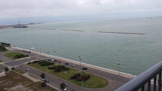Omni Corpus Christi Hotel : view from our room on 18th floor