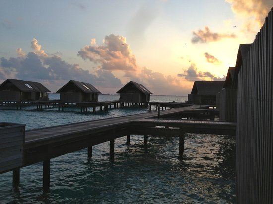 Shangri-La's Villingili Resort and Spa Maldives: water villas