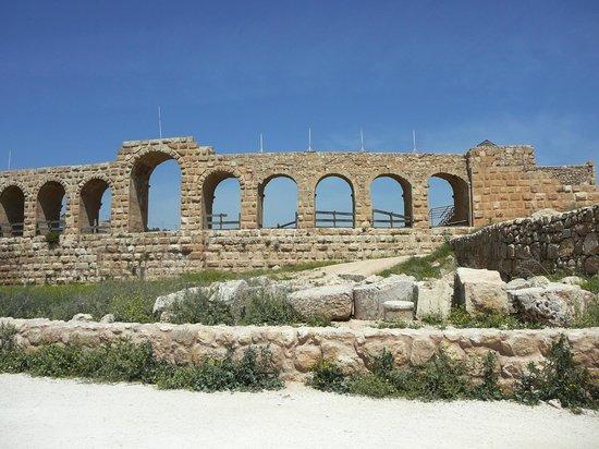 Ruinen von Gerasa: Parte della piazza