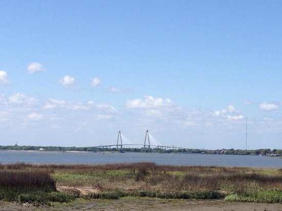 Pitt Street Bridge: View of the Harbor and Ravanel Bridge