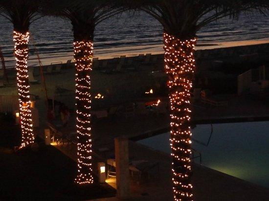 Edgewater Beach Hotel : Fogatas en la playa