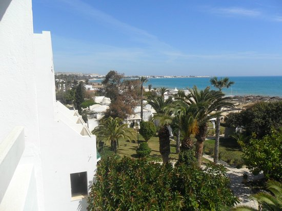 The Orangers Beach Resort & Bungalows: View from our balcony looking toward the Medina in the far distance
