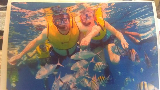 FE Catamaran Sail and Snorkel Cozumel: Pictures were $10, great shots!!!