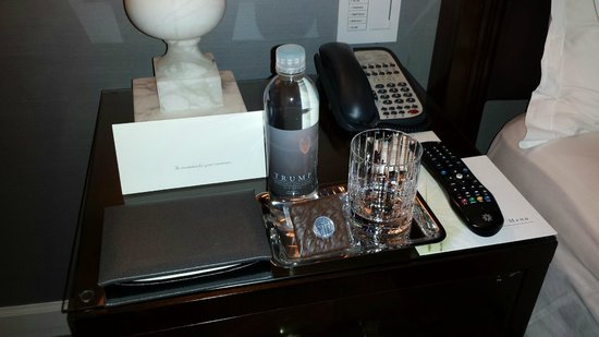 Trump International Hotel and Tower New York : The turn down service includes a wrapped piece of chocolate