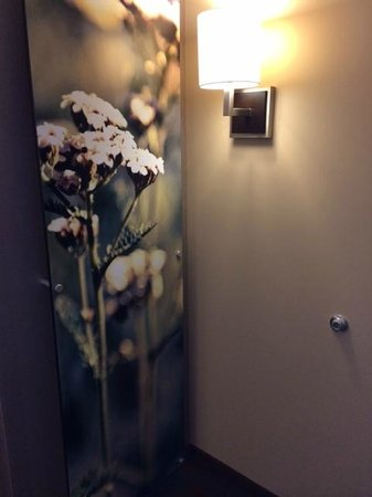 SpringHill Suites Denver Downtown: In-room artwork covers the HVAC panel