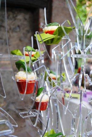 TaVal La Gastronomia come al Ristorante: Pizza margherita in bicchiere