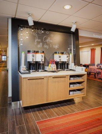 Hampton Inn Madison East Towne Mall Area: Free coffee and tea all day long.